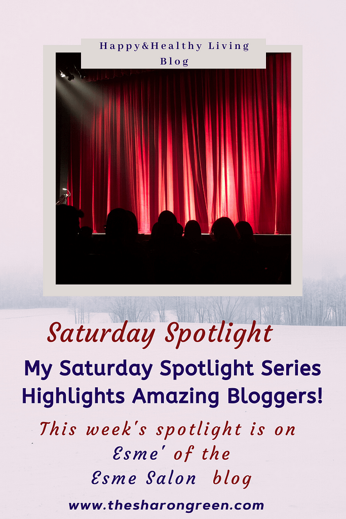 Saturday Spotlight Series- Episode 6 with Esme Salon. This week's spotlight features Esme' from the Esme Salon blog! I'm thrilled to showcase this blog!