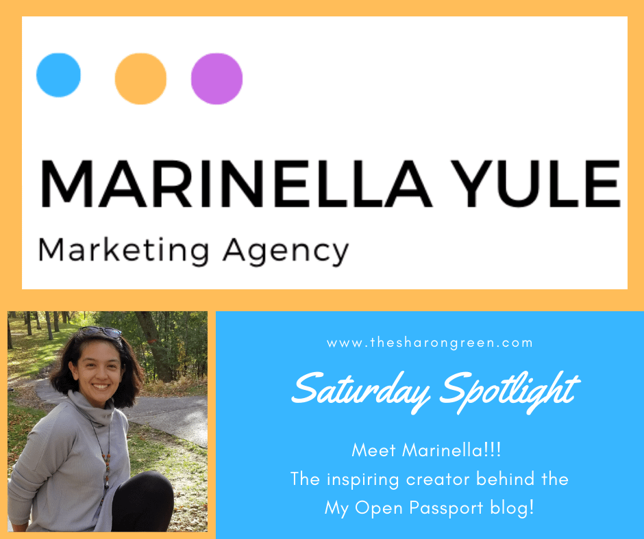 This week's Saturday Spotlight Series is Episode 9 with Mariella Yule of the My Open Passport blog.A weekly series to introduce other bloggers. #SaturdaySpotlight #spotlightseries #bloggerspotlight #blogstofollow #blogsIfollow #followme #blogfollow #blogging #amwriting #bloglovin#mentalhealth #lifestyleblogger #seo #newpost #travelblogs #momblogs #healthblogs #family #yolo